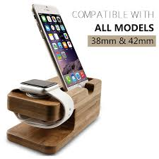 amazon com apple watch stand hapurs iwatch bamboo wood charging