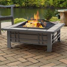outdoor gas fire pit table fire pit tables you ll love wayfair
