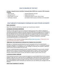fdic disclosure federal deposit insurance corporation insurance