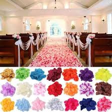 Rose Petals Room Decoration 5000x Silk Rose Petal Red White Gold Sky Blue Purple Pink Yellow