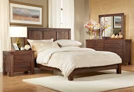 modus meadow solid wood platform bed in brick brown beyond stores