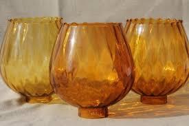 hand blown glass light globes vintage hand blown art glass l globes new old stock lot amber