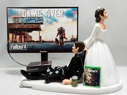 gamer wedding cake topper wedding cake topper gamer and groom xbox