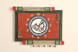 dhokra warli wall clock aakriti art creations