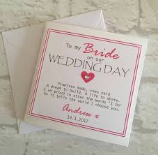 To My Groom On Our Wedding Day Card 10 Best Bride Wedding Cards Images On Pinterest Brides Card