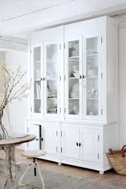 Kitchen Hutch Furniture Amazing Looking White Hutch Kitchen Furniture Featuring Glass