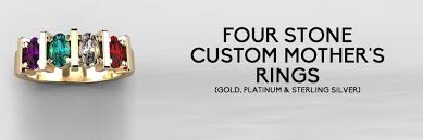 4 mothers ring custom 4 s rings family rings