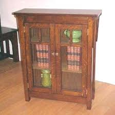 Mission Style Bookcase Mission Style Bookcase With Glass Doors Built Traditional Arts
