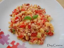 cuisiner la semoule dey cuisine taboulé d été avec de la semoule de maïs riz