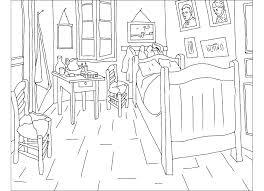 chambre gogh coloriages d oeuvres d