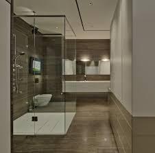 interior stunning modern wood bathroom decoration using steel