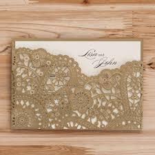 laser cut wood invitations 20pcs laser cut wedding invitations cards gold black red flora