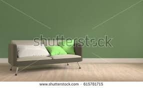 in livingroom modern interior living room white sofa stock illustration