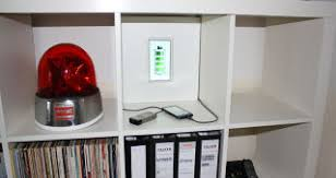 charging shelf station turn an ikea shelf into a hidden charging station
