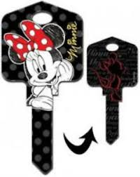 minnie mouse auto mickey mouse collection house key blank
