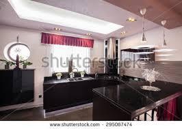 kitchen island integrated dining room modern stock illustration