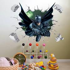 effect super hero batman breaking wall stickers baby kids use monkey wall stickers properly can bring big changes your house flower and grass mural decals for the spring blue yellow sticker