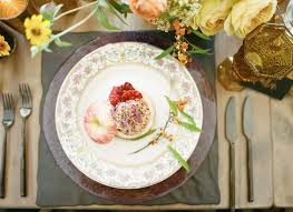 tips for creating a modern marigold hued thanksgiving tablescape