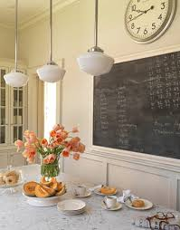 chalkboard in kitchen ideas an updated traditional design schoolhouse light chalkboards and