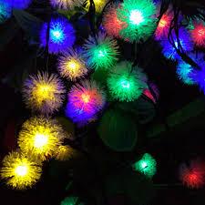 christmas tree flower lights yiyang 12m 100 leds pendant led solar l string lights snowball