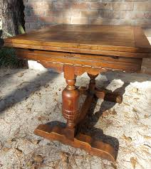 antique dining table with pull out leaves table designs