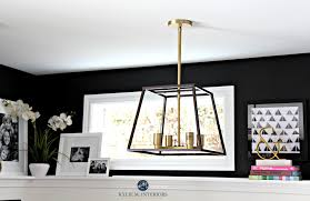 interior decorating home office with tricorn black sherwin