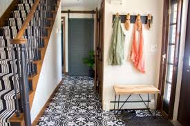 painted tile and brick store faux cement tile painted floors bright green door