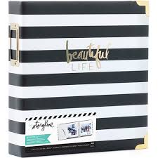 8x11 photo album heidi swapp 8x11 album storyline 2 d ring black stripe 44