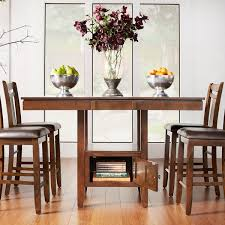 Counter Height Dining Room Furniture Marsden Brown Mission Extending Counter Height Dining Table By