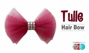 hair bow how to make a tulle hair bow theribbonretreat