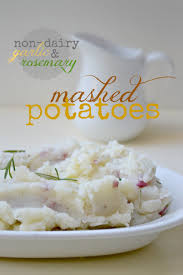 dairy free mashed potatoes fork and beans