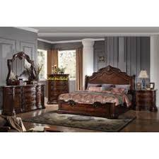 California King Sleigh Bed King Cal King Sleigh Bed Frame Warmbrown Finish