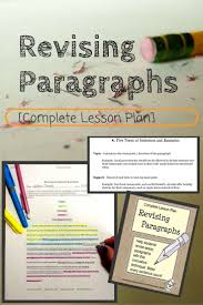 Examples In Essays Revising Paragraphs In Essays Paragraph Worksheets And Students