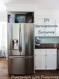 how to make your fridge look like a cabinet diy refrigerator enclosure how to make your cabinets look custom