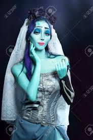 Halloween Makeup Corpse Bride Halloween Sorrow Scene Of A Corpse Bride Under Blue Moon Light