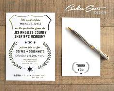 academy graduation invitations thin blue line academy graduation announcement or
