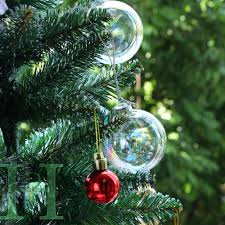 12pcs clear iridescent glass christmas baubles ball ornament 6cm