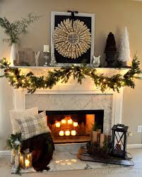 How To Decorate A Mantel For Christmas Neutral Vintage Christmas Mantel