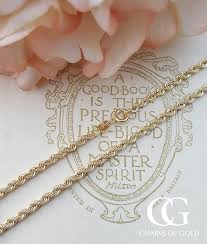 rose gold rope chain bracelet images Rope chain necklaces in 9ct yellow white rose gold men 39 s ladies jpg
