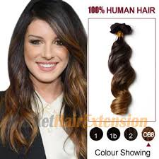 human hair extensions uk 20 two colors 2 and 27 wavy ombre indian remy clip in hair