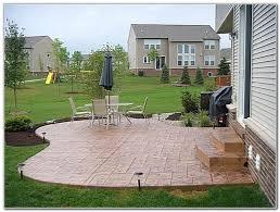Stamped Concrete Backyard Ideas by Concrete Patio Decorative Concrete Patio Designs Innovative