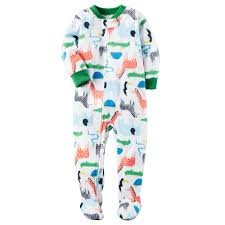 boy s winter fleece footed pajamas