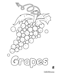 grapes coloring pages hellokids com