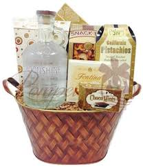 whiskey gift basket oh my moonshine whiskey gift basket by pompei baskets