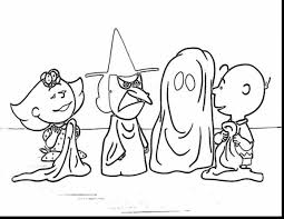 unbelievable charlie brown halloween coloring pages printable