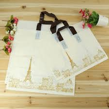wedding gift stores high quality handing tower plastic bag store shopping pouch