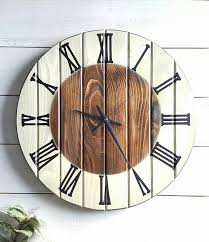 handmade wall clock large wooden clock unique clock rustic wall