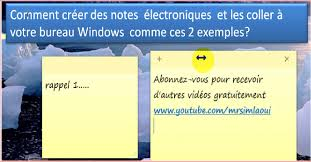 post it windows 7 bureau windows 7 comment créer des notes sur votre bureau windows