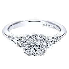 princess cut engagement rings white gold 14k white gold 80cttw princess cut halo engagement