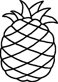 hawaiian pineapple free coloring page wecoloringpage